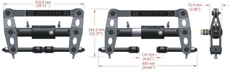 SG13TE tách mặt bích khe hở bằng 0, phương pháp nở bulong từ trong.