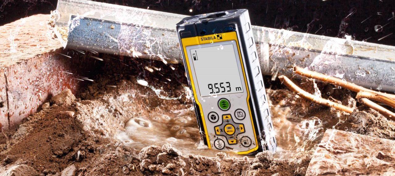 Máy đo khoảng cách bằng laser LD420, Stabila Germany. chống thấm nước.