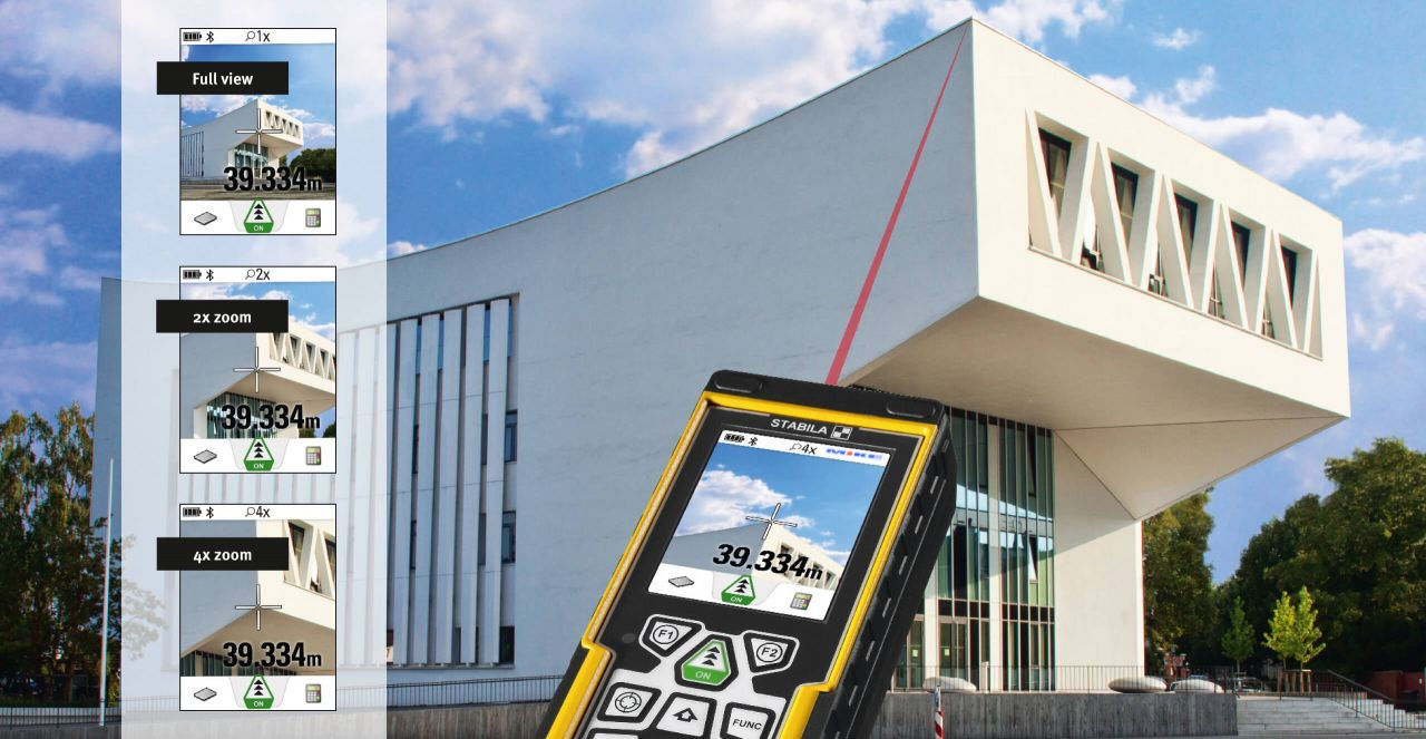 LD520 chức năng đo trên hình ảnh chụp được. Stabila Germany