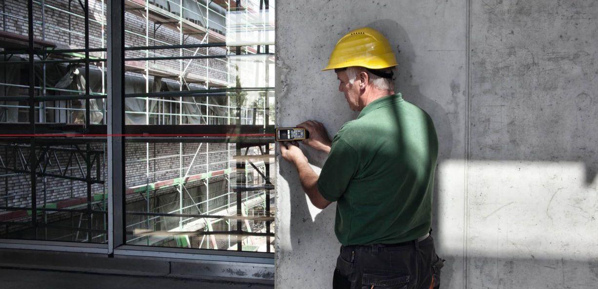 ứng dụng máy đo khoảng cách bằng laser trong xây dựng. LD520 Stabila