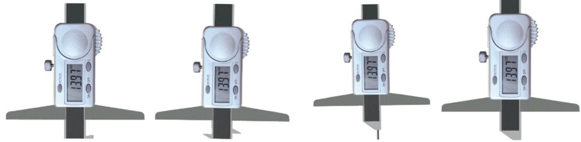 4 kiểu đầu đo khác nhau của thước đo sâu điện tử