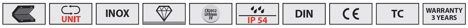 icon tính năng của thước Vogel Germany
