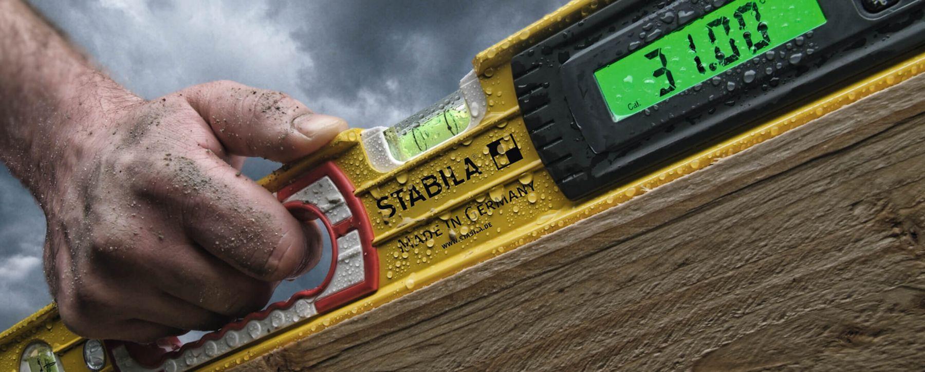 thước thủy điện tử ứng dụng trong thi công xây dựng Stabila Germany.