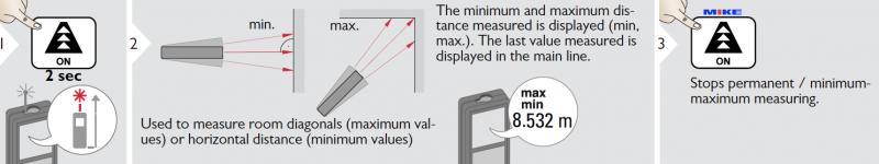 đế độ đo tĩnh vật, MIN, MAx của máy đo LD520