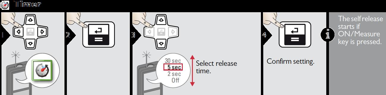 Chức năng hẹn giờ đo của máy đo khoảng cách