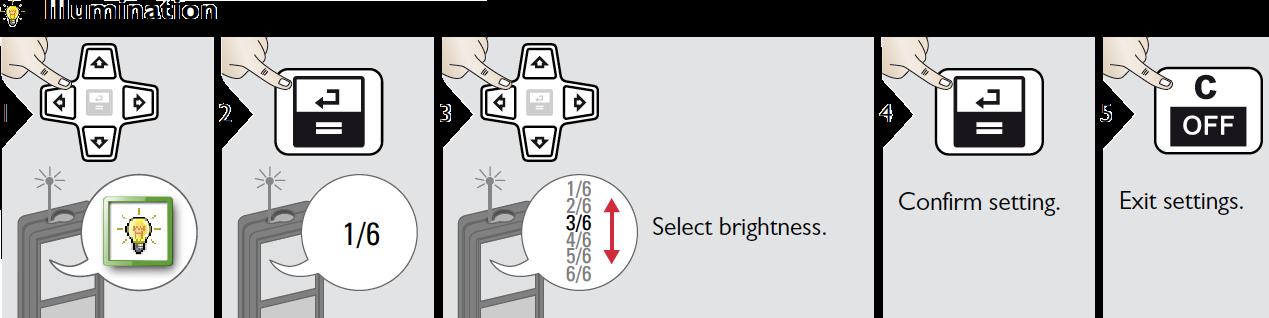 Điều chỉnh cường độ sáng màn hình LD520