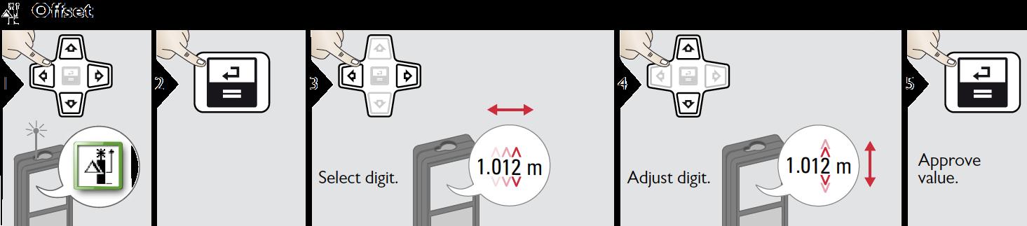 Điều chỉnh bù thông số khoảng cách trên LD520